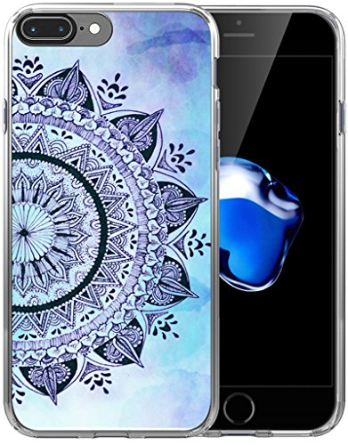 Case for iPhone 8 Plus/Case for iPhone 7 Plus/IWONE Designer Non Slip Rubber Durable Protective Replacement Skin Transparent Cover Shockproof Compatible for iPhone 7/8 Plus + Flower Print
