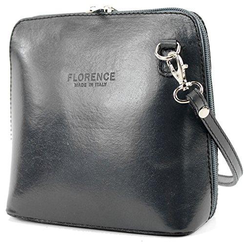 modamoda de -. borsa in pelle ital piccole signore borsa tracolla bag Città bovina T94, Präzise Farbe (nur Farbe):Dunkelgrau