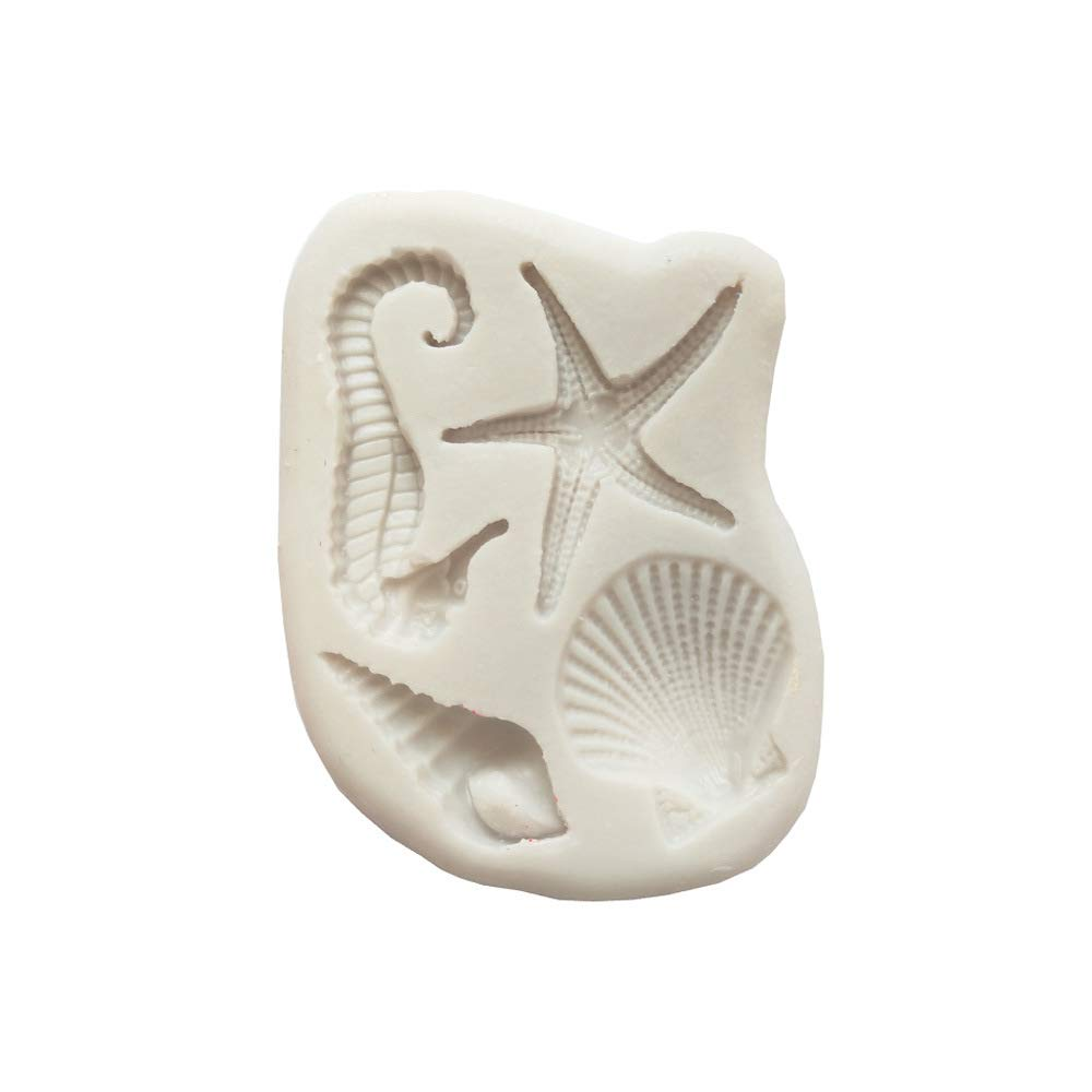 Butter Wax Polymer Clay Resin Fondant Soap Pendant Crafting Projects and Cake Decoration Mould Sea star//seahorse Chocolate Mold for Sugar Paste,Candy