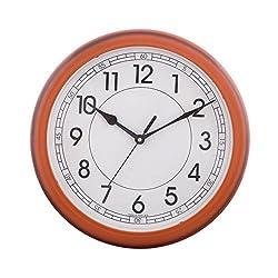 eCraftindia Decorative Retro Round Orange Wall Clock