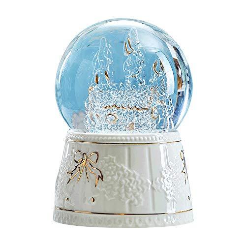 RMXMY Moda Simple Copo de Nieve Bola de Cristal Caja de música giratoria Personalidad Bluetooth Altavoz Creativo niños y...