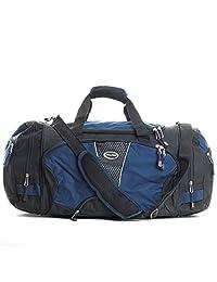CalPak Field Pak 20-inch Travel Carry On Duffel Bag, Black/Blue, One Size