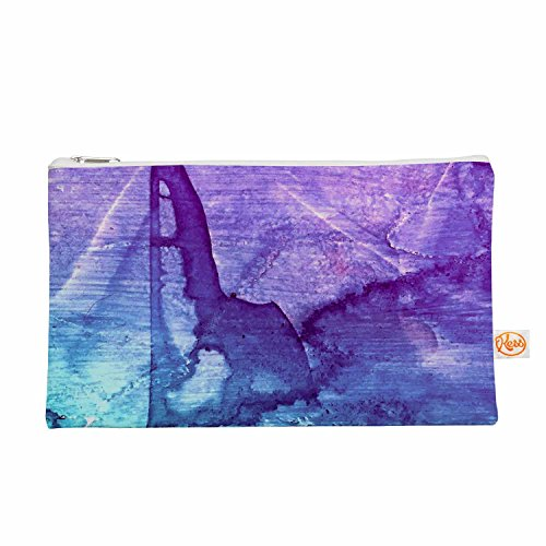 "KESS InHouse Malia Shields ""Blues Abstract Series 2"" Purp..."
