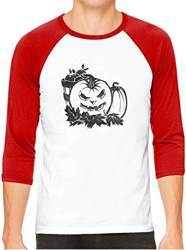 Halloween Jack O Lantern White Unisex 3/4 Sleeve