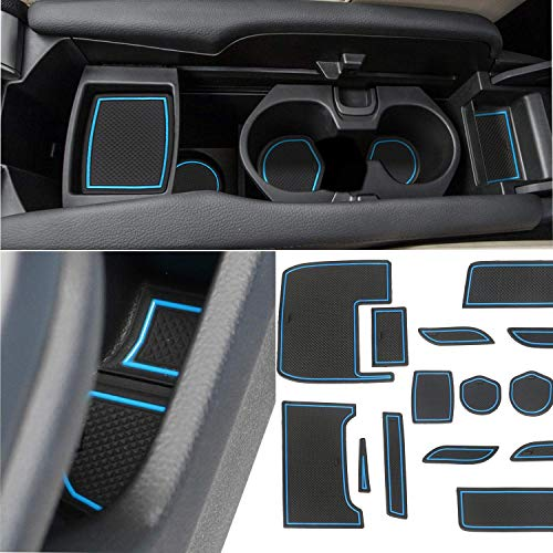 - Marchfa Custom Fit Cup Accessories for Honda Civic 2017 2018, Cup Holders Door Liner Insert Anti-mats for Honda Civic 2016 (Blue, for Civic Sedan)