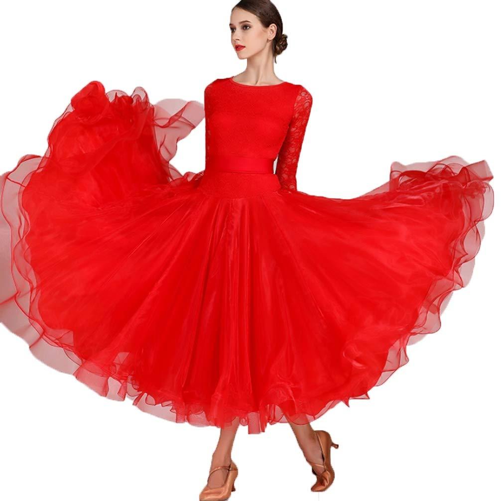 Robe Danse Tango Valse Flamenco Costumes Salon Pour De eorWdCBx