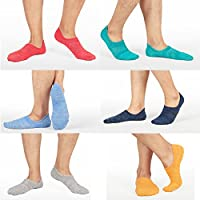 6-Pack M&Z Mens No Show Low Cut Improved Durable Casual Socks