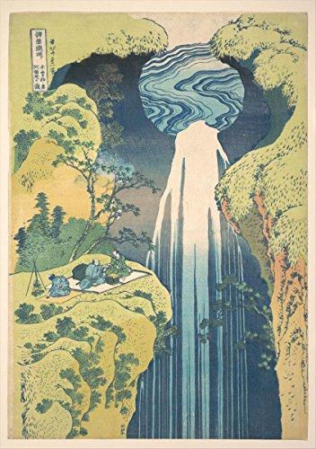 - Historic Pictoric Fine Art Print | The Amida Falls in The Far Reaches of The Kisokaido Road | Artist: Katsushika Hokusai | Created: Circa 1832 | Vintage Wall Art | 16in x 24in