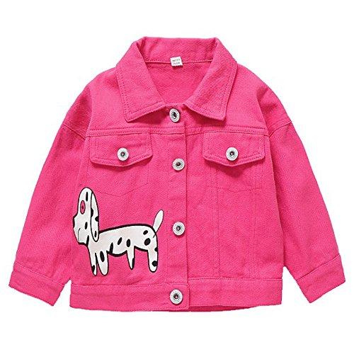 DZIECKO Baby Girls Princess Jacket Cartoon Long Sleeve Cardigan Raincoat