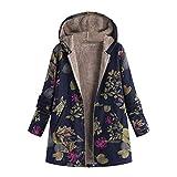 Women's Winter Warm Outwear Floral Print Fleece
