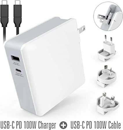 Black USB Type-C Data Cable 18W. Quick Charge 3.0 mobilestudio pro 13 Wall Charger