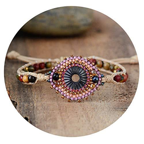 (Glad You Came Women Wrap Bracelets Semi Precious Stone Seed Beads Rope Bracelets Exclusive Bohemia Friendship Bracelet Beach Jewelry)