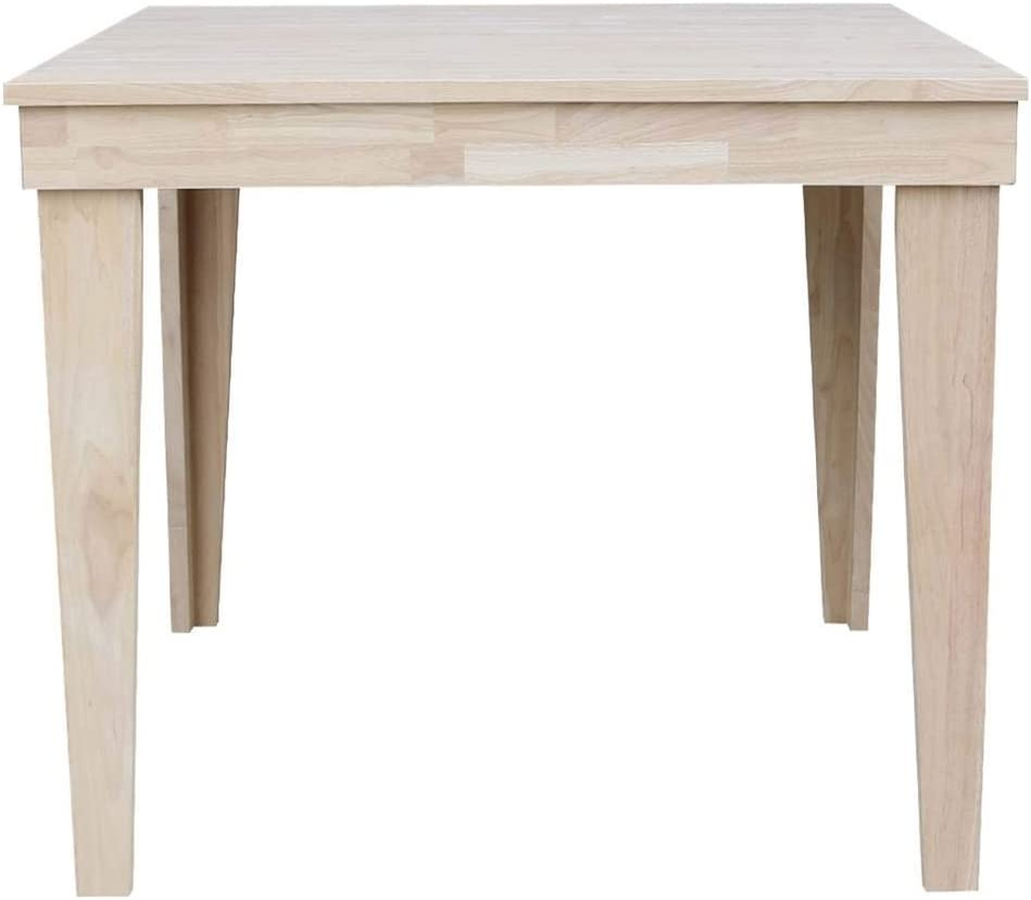 Amazon Com International Concepts Aspen Solid Wood Top Table Counter Height Dining Unfinished Tables