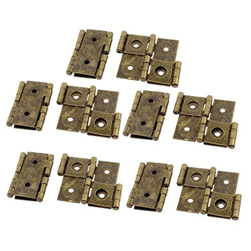 uxcell 46mmx54mm Retro Style Double Acting Folding Screen Hinge Bronze Tone 10pcs (Antique Hinges Gate)
