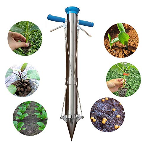 Bulb Planter Instruments and Vegetable Seedling Transplanter two handles with reward Bean seeder