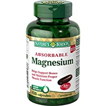Nature's Bounty Absorbable Magnesium, 125 Count