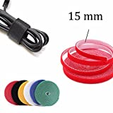 4.5m 15mm Velcro Sticky Adhesive Hook and Loop Tape Cable Tie Wrap Cord Straps Fasten Stitch
