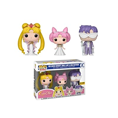 Funko Pop! Animation Sailor MoonExclusive 3 Pack Neo Queen Serenity,Small Lady & King Endymion: Toys & Games