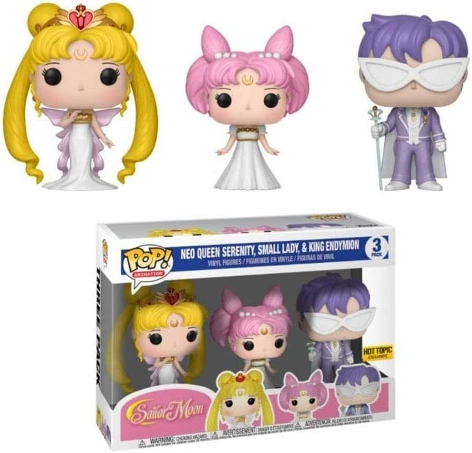Set 3 Figuras Pop Sailor Moon Queen Serenity Small Lady King Endymion Exclusive