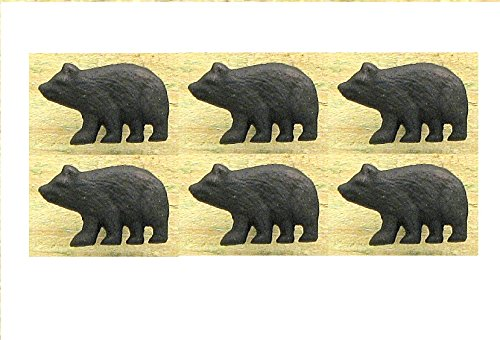 in Black Bear Cabinet Knob Drawer Pull (Set 6) (Bear Drawer Knob)