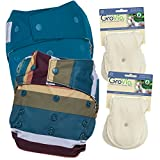 GroVia Experience Package: 2 Shells + 4 Organic Cotton Soaker Pads (Jewel + Abalone Snap)