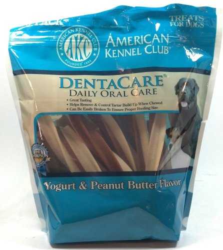 AKC American Kennel Club Dentacare Denta Care Daily Oral Care Yogurt and Peanut Butter Treats for Dogs 30 Pack (1 Bag)