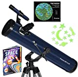 Blue TwinStar FirstStar 3'' Reflector Telescope Kids Pak Bundle