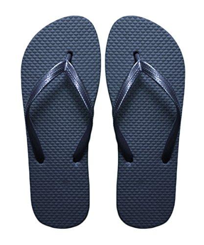 SUGAR ISLAND por PARIELLA ™ señoras de las muchachas verano de la playa del flip-flop Chanclas zapatos de la piscina Azul marino