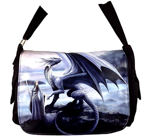 NEW ANNE STOKES FANTASY DRAGON MEDIEVAL ART, MESSENGER BAG **YOUR CHOICE OF ART** BY ACK (NEW HORIZONS)