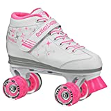 girls roller skates size 1 - Roller Derby Girls Sparkle Lighted Wheel Roller Skate, White, Size 1