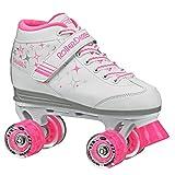 Roller Derby Girls Sparkle Lighted Wheel Roller Skate, White, Size 3