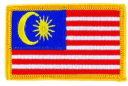 Toppa Ricamata Bandiera Malesia Malese thermocollant insigne Backpack Akacha