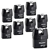 Master Lock Pro Series Padlock - (8) High Security Locks 6327NKA-8 w/BumpStop Technology