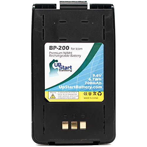 Icom BP-200 Battery Replacement with Clip - Compatible with IC-A5, IC-A23, IC-T81A, IC-T8A, BP-200L, IC-T81E, IC-T81, IC-T8E, IC-T8, IC-T81HP, IC-T81H, IC-T8HP, IC-T8H, BP-200M, BP-200H Two-Way Radios