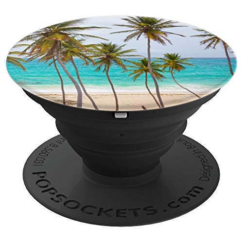 Tropical Paradise Sunset Beach Palm Trees Gift - PopSockets Grip and Stand for Phones and Tablets