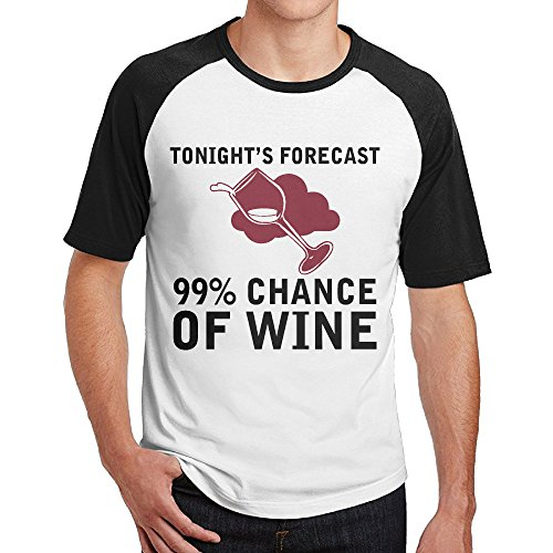 Double Happiness Raglan Chance Of Wine Tshirts Black XL For Mens Or - Outlets Prime Tampa