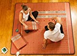 HealthyLine Infrared Heating Mat (Firm)|8 PEMF Coils, 36 Photon LEDs, Natural Amethyst, Jade, Obsidian & Tourmaline Ceramic (King) 80″ x 76″ |Relieve Pain, Sore Muscles, Arthritis and Injury Recovery