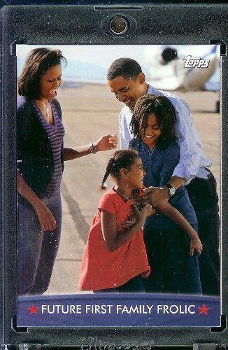 (2008/09 Topps Barack Obama Presidential Trading Card #55 - Very attractive trading card of President Obama)