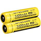 Nitecore NL189 2014 Universal 18650 Li-ion Recharger Battery with 3400mah 3.7v 12.6wh Which Certified By Ce,ul,and Rohs and Can Be Recharged Over 500 Times (2*NL189 3400mAh Battery)