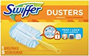 Swiffer 180 Dusters Starter Kit For Multi Surface Cleaning, Unscented (1 Handle, 5 Dusters)