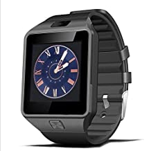Padgene DZ09 Bluetooth Smart Watch with Camera for Samsung S5 / Note 2 / 3 / 4, Nexus 6, Htc, Sony and Other Android Smartphones,Black