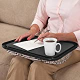 Lap Desk - Ikevan Lap Desk For Laptop Chair Student Studying Homework Writing Portable Dinner Tray - Black