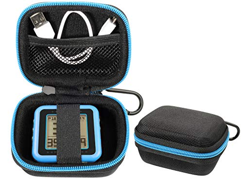 CaseSack Golf GPS Case for Bushnell Phontom Golf GPS, Neo Ghost Golf GPS, Garmin 010-01959-00 Approach G10, Other Handheld GPS, More Room for Cable and Others (Black with Blue Zip Contrasted)