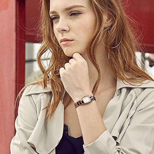 WLKVUOT 新しい時計高級ファッション女性の長方形の腕時計スチールストラップクォーツ腕時計すべての機会のためのファイン女性の腕時計