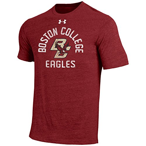 Boston College Eagles Tee - Under Armour NCAA Boston College Eagles Men's Short Sleeve Tri-Blend Tee, Cardinal, X-Large