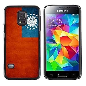 TopCaseStore / la caja del caucho duro de la cubierta de protección de la piel - Myanmar Grunge Flag - Samsung Galaxy S5 Mini, SM-G800, NOT S5 REGULAR!
