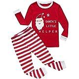 VonVonCo Boys Girls Christmas Pajamas Toddler Pjs Long Sleeve Kid Sleepwear Pants Sets (6, Red)