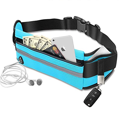 JINLIDA Running Waist Pack,Water Resistant Runner Belt Sports