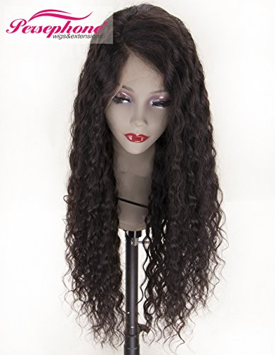 Persephone Real Looking Pre Plucked 360 Lace Wig with Baby Hair 150% Density Brazilian Curly Lace Front Human Hair Wigs for Black Women 14inches Natural Brown Color by Persephone Lace Wig (Image #7)
