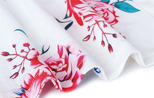 Cardigan Manteau Floral Fluide Blouse Manches Chic Tops Imprim Oversize Femme Longues Tunique Tunique Asymtrique Blouse white Vintage Long BESTHOO xH7wAIqSx